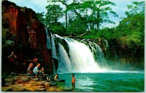 Vintage Panama Postcard Chorrera Falls View Chrome c1960s Unused