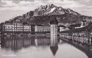Schweiz Luzern mit Pilatus Photo