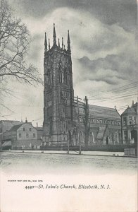 St. John's Church, Elizabeth, New Jersey, early postcard, unused
