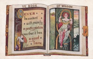 PU-1917; Ye Book Of Wisdom, Never Be Content With Merely A Pretty Picture ...