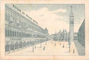 Au Palais du Royal Venise Advertising Antique Non-Postcard Back J54548