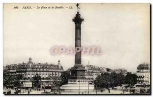 Paris - 10 - Bastille Square - Old Postcard