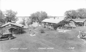 Crosby Minnesota 1940s Crowwing Hickory Lodge RPPC Photo Postcard 1285