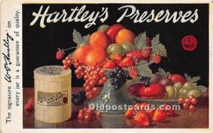 Advertising Postcard - Old Vintage Antique  HaHartley's Preserves