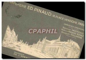 Old Postcard Parfumerie Ed Pinaud Place Vendome Paris Bouquet of & # 39Avenue...