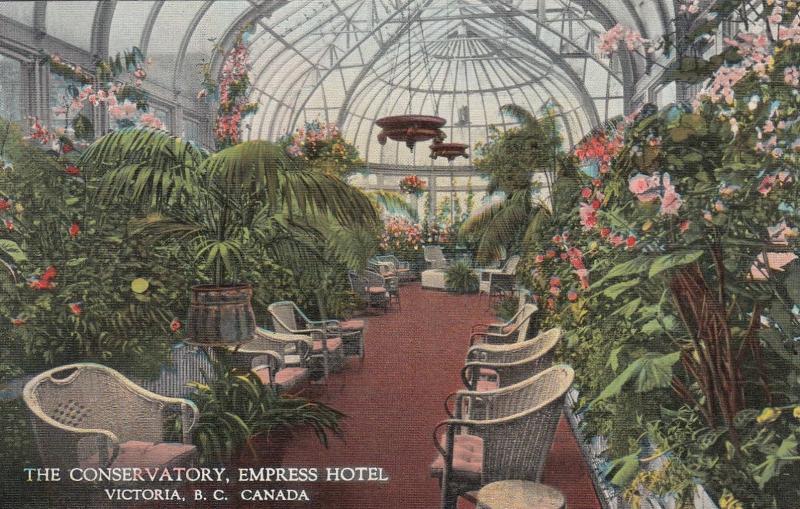VICTORIA, British Columbia, Canada, 1930-40s; The Conservatory, Empress Hotel