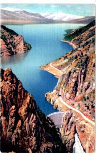 ROBBINS 977 Shoshone Dam and Lake on Cody Road, Yellowstone National Park