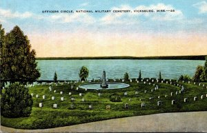Mississippi Vicksburg Officers Circle National Military Cemetery 1953