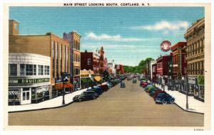 New York  Cortland , Main Street looking South