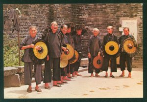 Hong Kong Village Old Women Outside Kathing Walled City Vintage Postcard