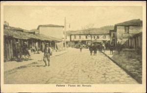 albania, VALONA VLORË VLORA, Piazza del Mercato (1915)