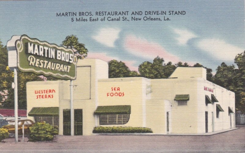 Louisiana New Orleans Martin Brothers Restaurant & Drive-In Stand sk2342