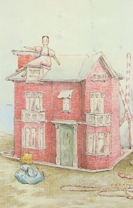 Dolls House The Tale Of Two Bad Mice Beatrix Potter Book Postcard