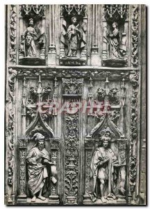 Modern Postcard Aix en Provence B R Cathedrale Saint Sauveur Portal lower lef...