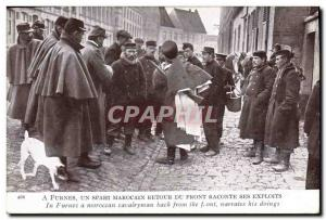Old Postcard Militaria A Furnes A Moroccan Spahi back from the front recounts...