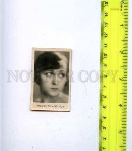 188456 Miss RUSSIA 1929 year Vintage photo CIGARETTE card