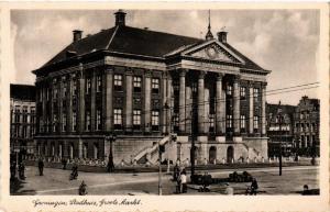 CPA GRONINGEN Stadhuis Groote Markt NETHERLANDS (604223)