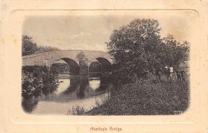 Aberfoyle Scotland~Stone Arch Bridge Over the River Forth c1908