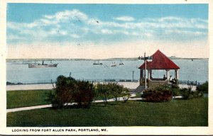 Maine Portland Looking From Fort Allen Park 1918