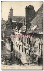 Lisieux Old Postcard Old houses on the Touques