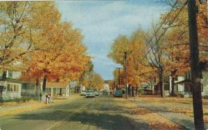 Old Forge NY Postcard Main Street in all its Autumn glory