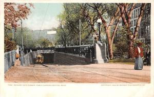 USA Descent into Subway, Public Gardens, Boston Mass.