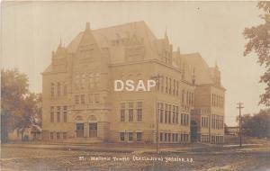 South Dakota SD Postcard Real Photo RPPC c1910 YANKTON Masonic Temple