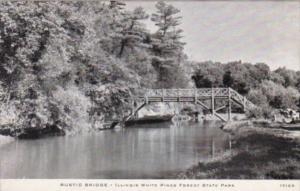Illinois The Rustic Bridge Illinois White Pines Forest State Park