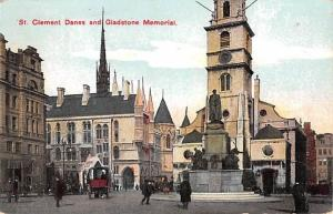 United Kingdom, Great Britain, England St Clement Danes and Giadstone Memoria...