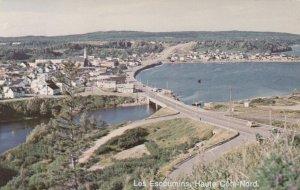 HAUTE COTE-NORD, Quebec, Canada, PU-1984; Bird's Eye View of Les Escoumins