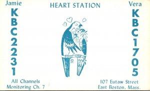 Massachusetts Boston Heart Station Jamie KBC2231 & Vera KBC1705 QSL Card