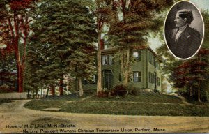 Maine Portland Home Of Mrs Lillian M N Stevens National President Womens Chri...