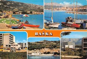 Croatia Baska multiviews Plage Beach Harbour Boats Bateaux Hotel