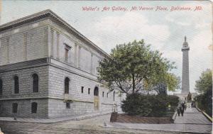 Walter's Art Gallery, Mt. Vernon Place, BALTIMORE, Maryland, PU-1909