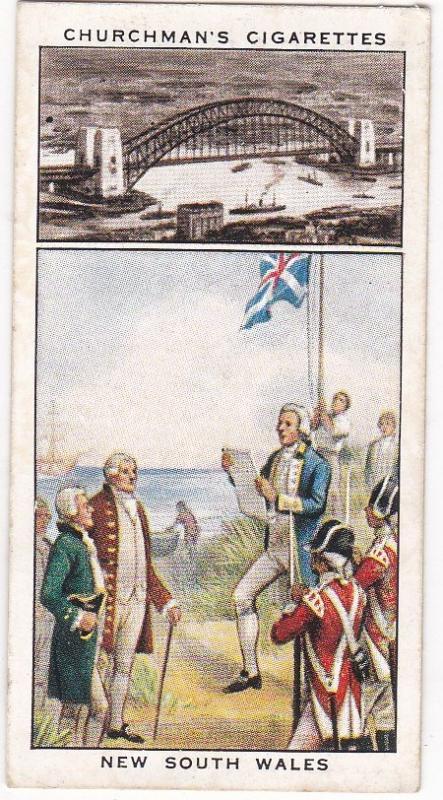 Cigarette Card Churchman's Development British Empre No 3 New South Wales