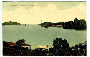 Singapore China New Harbour Entrance Postcard