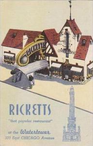 Illinois Chicago Ricketts Restaurant 1946
