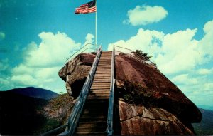 North Carolina Chimney Rock Stairway To Top