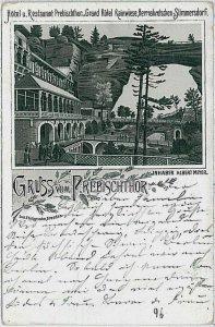 VINTAGE POSTCARD:  CZECH REPUBLIC -  GRUSS AUS Pravčická brána Prebischtor  1896