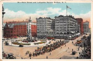 New York Buffalo   Main Street and Lafayette Square