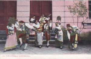 Italy Tarantella Sorrentina Locals In Traditional Costume