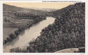 West Virginia Lewisburg Scene On Greenbrier River Near Lewisburg Artvue