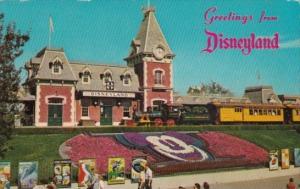 Santa Fe and Disneyland Railroad Depot Greetings From Disneyland Anaheim Cali...