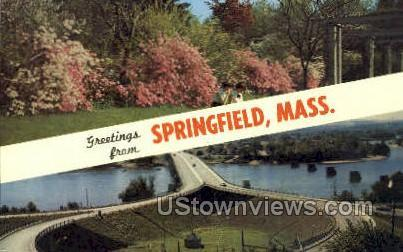 Greetings From Springfield MA Unused