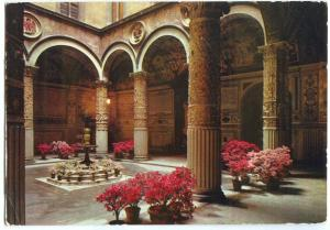 Italy, Firenze, The Courtyard of the Ancient Palace, 1968 used Postcard