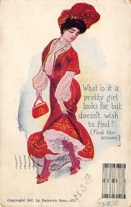 What is it a pretty girl looks for, but doesn't wish to find? Puzzle 1908