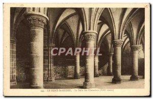 Old Postcard Mont Saint Michel La Salle Des Chevaliers