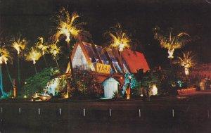 FORT LAUDERDALE, Florida; Mai-Kai Polynesian Restaurant at Night, 40-60s