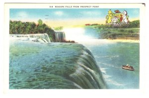 From Prospect Point, Niagara Falls, Coat of Arms, Canada, Used 1957