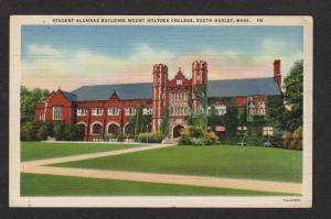 MA MT Mount Holyoke College SOUTH HADLEY Mass Massachusetts Postcard Linen PC